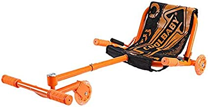 مقعد لسكوتر ذكي مموج ذو توازن ذاتي ومكون من 3 عجلات - باللون الاحمر البرتقالي