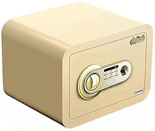 GGDJFN [Digital-Kombination Fingerabdruck Cash Box, Haussafe, Verriegelungs-Kasten, Feuerbeständige Safe for ID-Papiere, A4 Dokumente, Laptop Computer, Schmuck (Color : Gold)