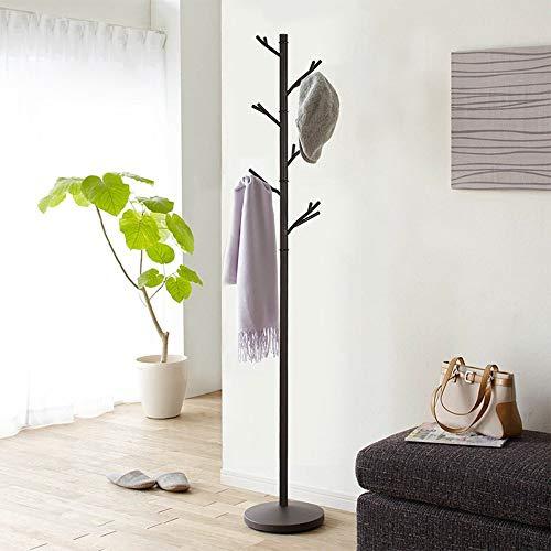 47-B Perchero de hierro forjado para dormitorio, colgador creativo, para colgar ropa (color: negro)