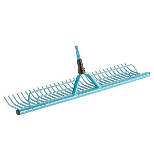 Gardena combisystem-Rasenrechen: Rechenbesen mit 60 cm Arbeitsbreite zum Zusammenfegen von Grasschnitt, passend zu allen combisystem-Stielen, mit praktischer Grasfangvorrichtung (3381-20)