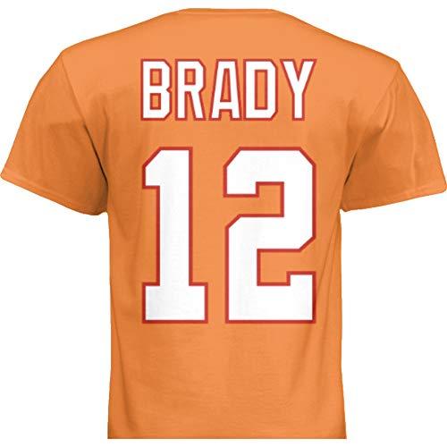 NWT New Brady #12 Tampa Bay Orange Retro Custom Screen Printed Football T-Shirt Jersey No Brands/Logos Men's (Medium)