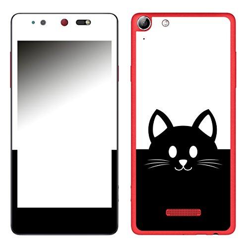Disagu SF-106693_1017 Design Folie für Wiko Selfy 4G - Motiv Kawaii Katzengesicht schwarz