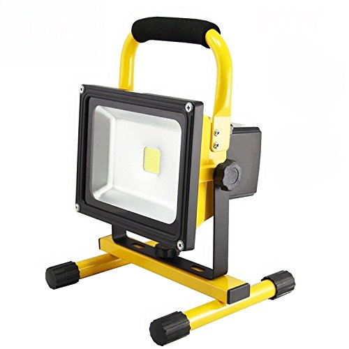 MCTECH 2 Akku 20 W Spot Handlampe Warmweiß Fischerei Außenbeleuchtung Camping Werkstatt Projektor (gelb) 20 W 2