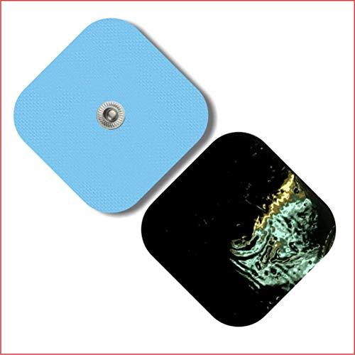 TENSPAD SILVER Pack 20 electrodos 50x50mm para VITALCONTROL, SANITAS, Beurer, BLUETENS, con 1 Conector Snap de 3,5 mm