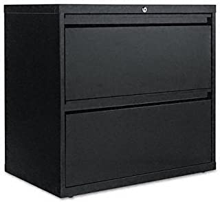 Alera 30 by 19-1/4 by 29-Inch 2-Drawer Lateral File Cabinet, Black