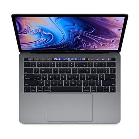 "Apple 13.3"" MacBook Pro w/ Touch Bar (Mid 2018), 227ppi Retina Display, Intel Core i5-8259U Quad-Core, 256GB PCI-E Solid State Drive, 8GB DDR3, 802.11ac, Bluetooth, macOS 10.13, Space Gray (Renewed)"