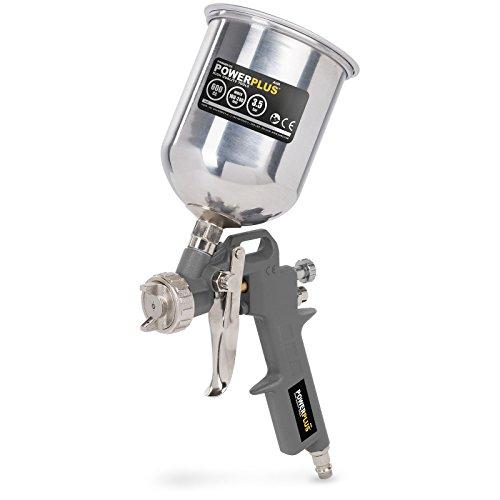 Varo Druckluft Hochdruck- Spraypistole, Spritzpistole, Lackierpistole, FLIESBECHERpistole Lackierpistole mit 400 ml Aluminium-Becher - POWAIR0105