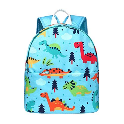 PROTAURI Mochilas para Niños de guardería Niños Niñas Bolsa para la Escuela Dibujos Animados Dinosaurio Mochila Infantil Viaje Mochila para Al Aire Libre Primaria Viajar(2-10 años de Edad)