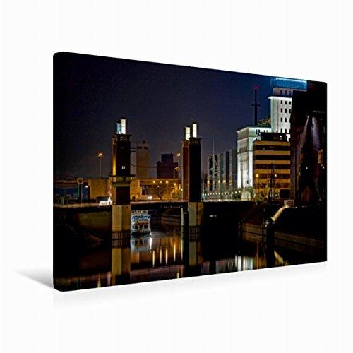 CALVENDO Premium Textil-Leinwand 45 x 30 cm Quer-Format Das Schwanentor am Innenhafen Duisburg, Leinwanddruck von Joachim Petsch