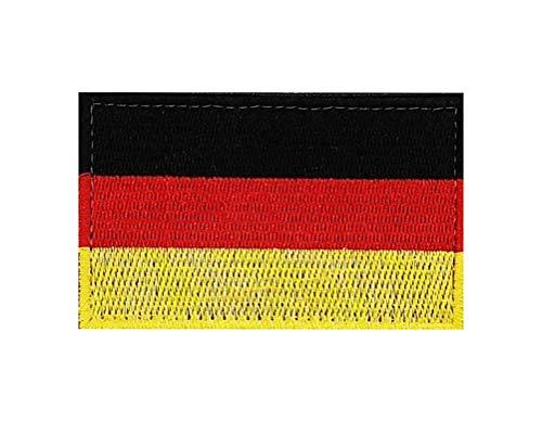 Bandera de Alemania bordada parche de velcro táctico para mochilas gorras chalecos cascos uniformes airsoft, aplicación por costura