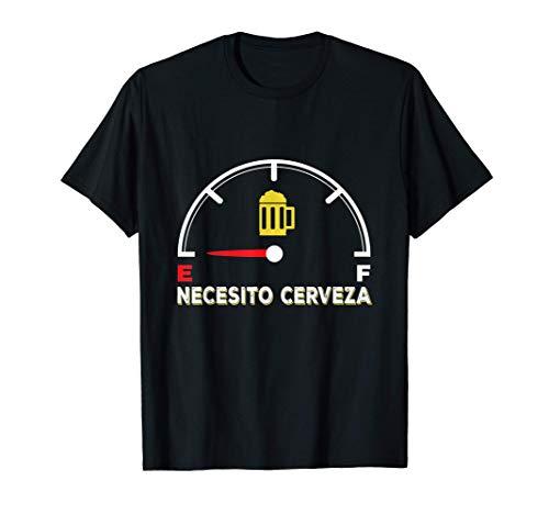 Necesito Cerveza Bière Fuel Humor Beer Pub Hombre Regalo Camiseta