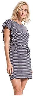 Z Supply Clothing Women's Capri Ruffle Sleeve Dress Black Iris/White Small [並行輸入品]