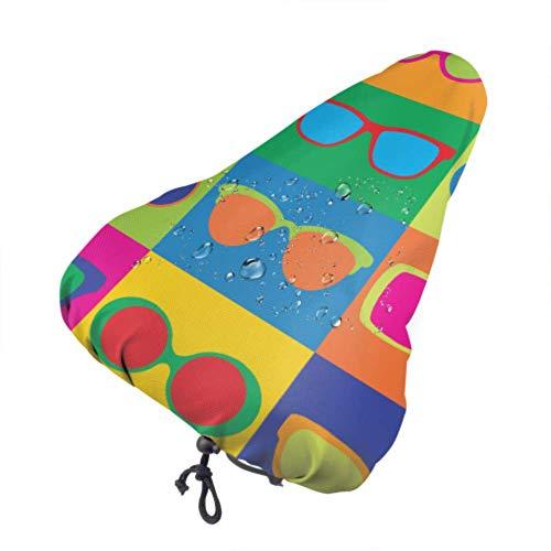 Fundas de asiento para adolescentes Gafas de sol lindas de verano Fundas de asiento de bicicleta Fundas de lluvia para asiento de bicicleta con cordón, resistente a la lluvia y al polvo para la mayo