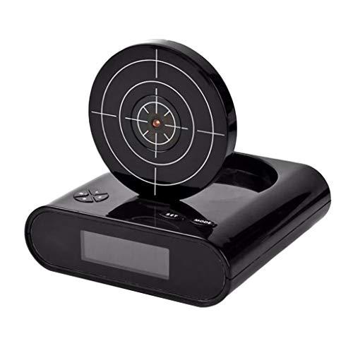 LOVIVER LED Digital Wecker Zielwecker Gun Alarm Clock Wecker mit Zielscheibe und Infrarot Pistole - Schwarz