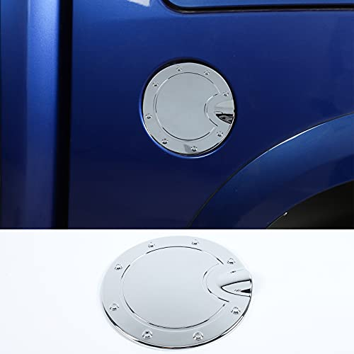 RT-TCZ Gas Fuel Filler Door Tank Cap Cover Trim ABS Exterior Accessories for Dodge RAM 2010-2017 Chrome