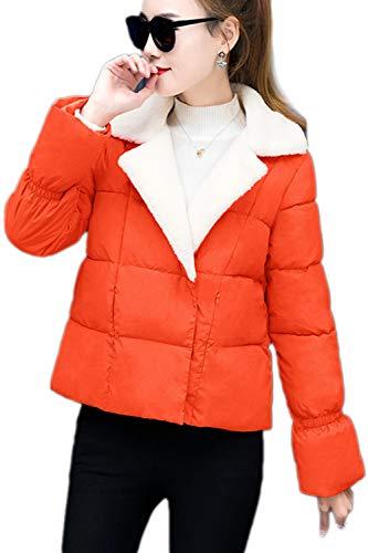 Crystallly Dames donsjas Elegant normale lak herfst winter gewatteerde jas bekleding warme comfortabele maten mode casual comfortabele mantel lange mouwen met zakken twee rijen jas