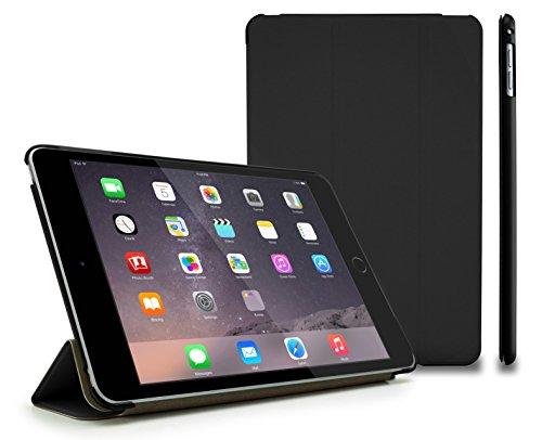 MyGadget Hülle für Apple iPad Mini 4 Hülle mit Smart Auto Einschlaf / Aufwach Funktion - Cover zum Aufstellen klappbare stoßfeste Schutzhülle in Schwarz