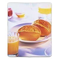 マウスパッド 朝食マフィンコーヒージュース レーザー&光学マウス対応 防水/洗える/滑り止め サイズ:18 x 22 x 0.3 cm