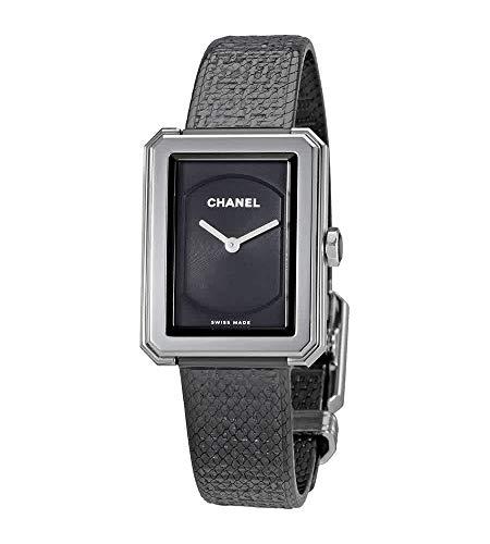 Chanel Boy-Friend Damen-Armbanduhr H5317, schwarzes Zifferblatt