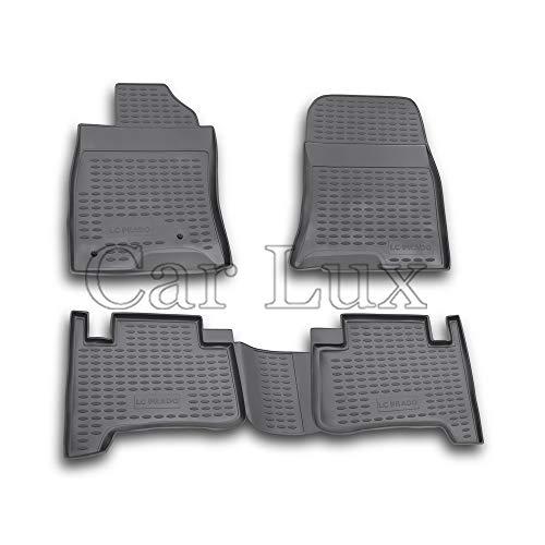 Car Lux AR01475 - Alfombras Alfombrillas de goma tipo cubeta 3D para Land Cruiser J12 120