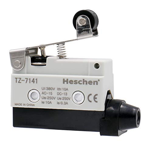 Heschen – Horizontaler Limit-Schalter, kurzer Rollenhebelbetätiger-Aktor, AC 380V 10A, Einpolig, TZ-7141