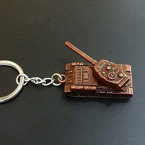 Ooopsieu Battle Tank Panzer Llavero blindado Llavero de Llavero de Metal Anillos de Llavero del automóvil Motor Tanque de Llavero Giratorio Gun Barrel