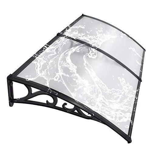 Jardín al Aire Libre Dosel de Techo Tejado de marquesinas de 6 mm de policarbonato Refugio Claro ventana de plástico UV lluvia Protección de nieve cubierta ( Color : Clear plate , Size : 80cmx100cm )
