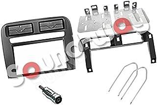 Sound-way Kit Montaggio Autoradio, Mascherina 2 DIN, Staffe di Montaggio, Bocchette d'aria, Adattatore Antenna, Chiavi di ...