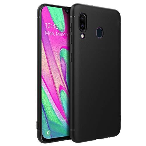 EasyAcc Custodia per Samsung Galaxy A40, Morbido TPU Cover Slim Anti Scivolo Protezione Case Antiurto Compatibile con Samsung Galaxy A40 - Nero