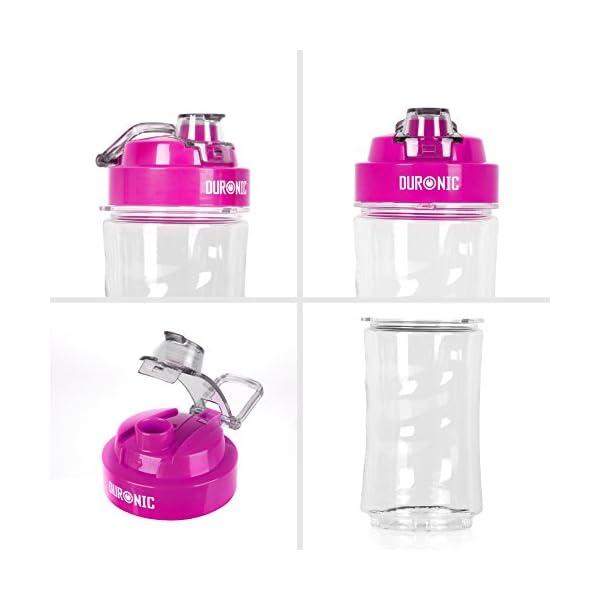 Duronic CR Botella de Agua Deportiva Reutilizable para Smoothies en Pl/ástico Tritan y Sin BPA