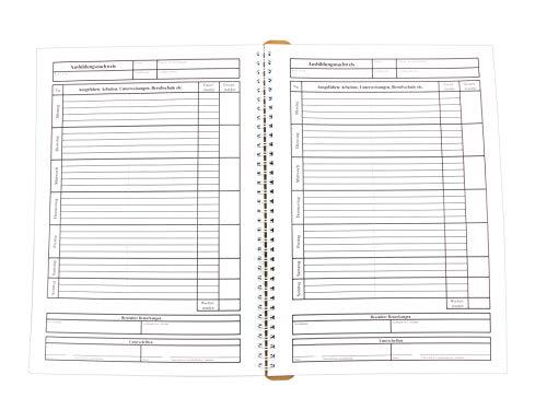 KochDialog Ausbildungsnachweis für duale Ausbildung/ Berichtsheft (abheftbar, A4, 55 Wochen, äußerst stabil, Dicke Innenseiten, super Aufschlag- und Schreibverhalten)
