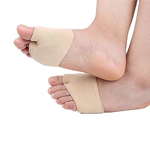 Dr.Pedi Fabric Metatarsal Sleeve Pads with Forefoot Cushion Pad Fracture Toe Sleeve Ball of Foot Cushions with Sole Gel Pads for Diabetic Feet Metatarsalgia Mortons Neuroma Prevent Calluses Blisters