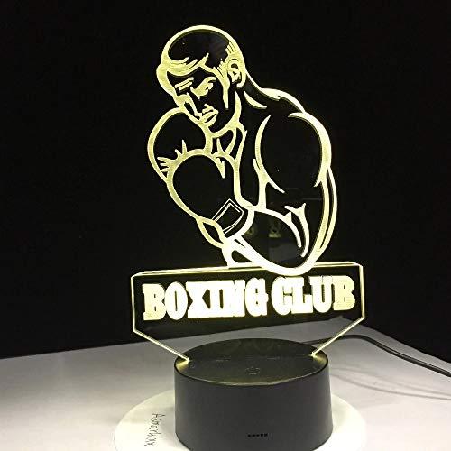 Lámpara de modelado visual Amantes del club de boxeo Lámpara de mesa Decoración del hogar Lámpara para dormir