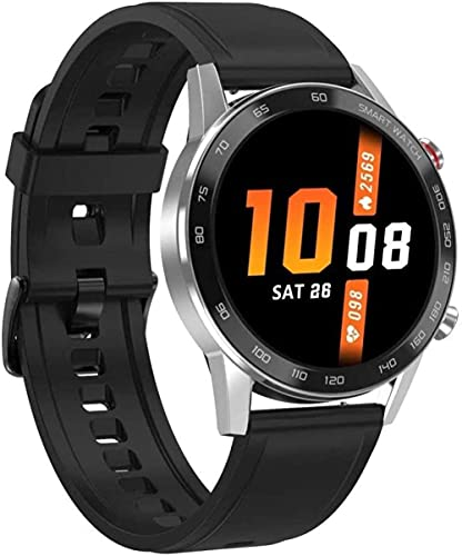 wyingj Reloj Inteligente 1.3 pulgadas Smart Touch Ronda Pantalla Bluetooth Llamada Deportes Podómetro
