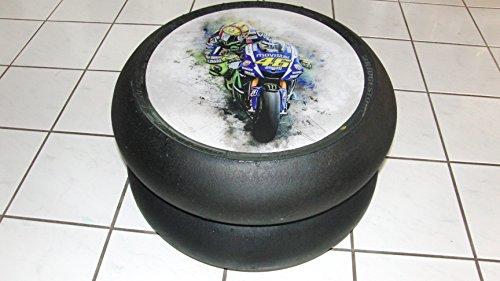 Rossi, Art, 46 Moto Moto GP, Superbike Slick Beistelltisch, Deko, Motorsport Geschenk