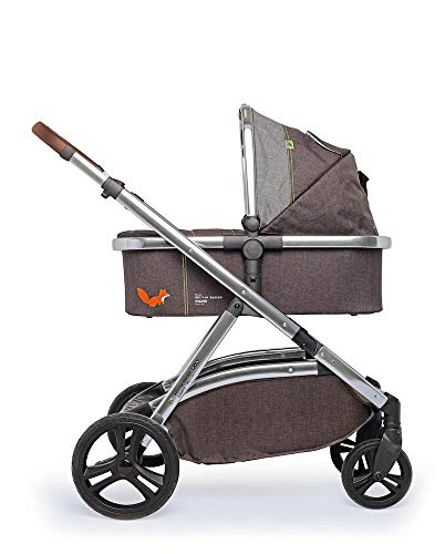 Cosatto Wow XL 3-in-1 Pram and Pushchair - From Birth - 25 kg, with Tandem Mode and Buggy Board (Mister Fox)