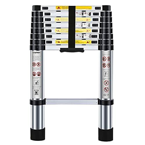 Nestling 8.5ft/2.6M Telescopic Ladder, Portable Aluminium Max Load 150kg/330lb,...