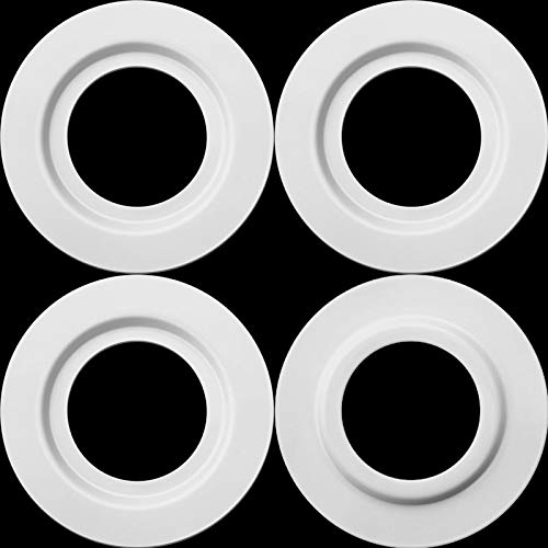 Metal Lamp Shade Reducer Ring for ES/E27 to BC/B22 Plate Light Fitting Lampshade Washer Adaptor Converter (White, 4 Pieces)