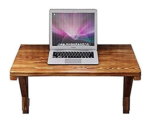 WECDS Mesas de café plegables para mesas de pared para ordenadores pequeños de lavandería, cocina, madera natural, escritorio para computadora portáti