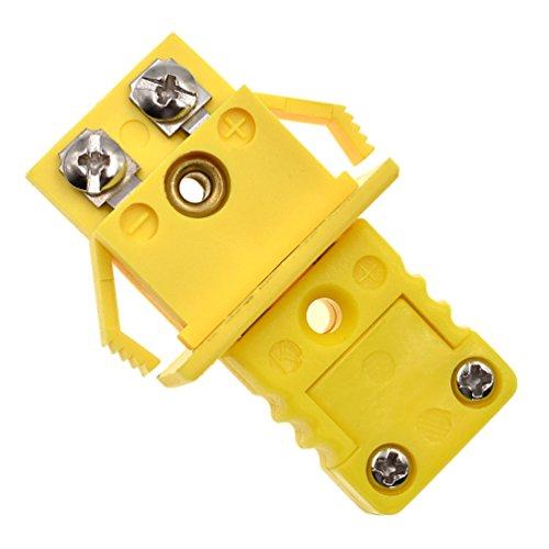 YNuth 2x K Typ Stecker Steckdose Buchse Thermoelement Kunststoff Metall Gelb Set