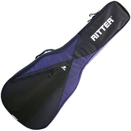 Ritter RGP5-C CLAS - Funda/estuche para guitarra acustica-clasica, logo reflectante, color azul