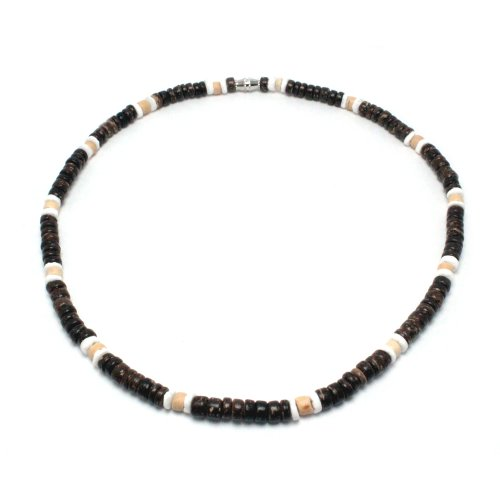 Green Nipa Hut 5mm Dark Brown Coco Bead Hawaiian...