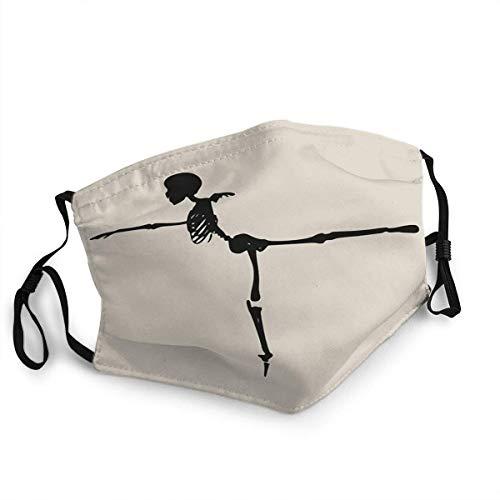 mundschutz Umwelt Schutz bequem Schützt Mund Anti-Staub Menschliches Skelett Posieren Für Halloween Party Design Vorlage