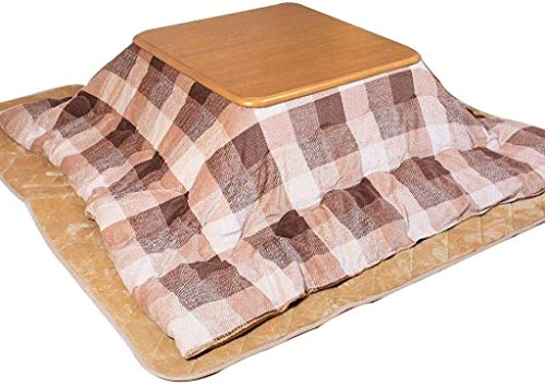 Juego de mesa de equipo diario Mesa de futón cuadrada Mesa de calefacción interior de invierno Sala de estar Mesa de tatami Mesa de calefacción para dormir de lectura (Color: Azul Tamaño: 80 * 80 *
