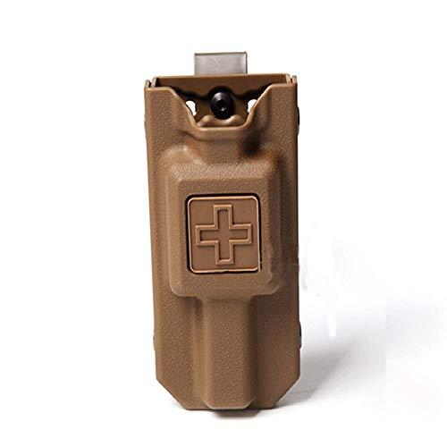 WICHEMI Tourniquet Case Molle Tourniquet Holder Pouch Storage Bag Box CAT Tourniquet Carrier Case for Outdoor Hunting (Sand Yellow)