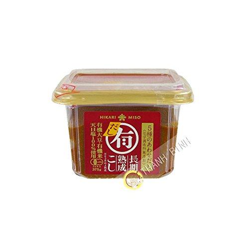 La pasta de Miso Dashi Orgánica HIKARI 375g Japón - Pack de 3 uds