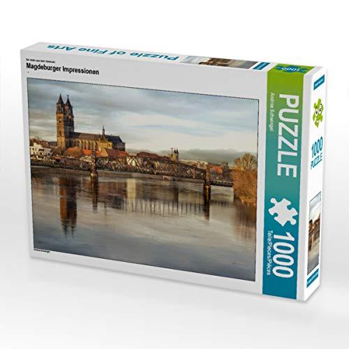 CALVENDO Puzzle Magdeburger Impressionen 1000 Teile Lege-Größe 64 x 48 cm Foto-Puzzle Bild von Andrea Schwingel