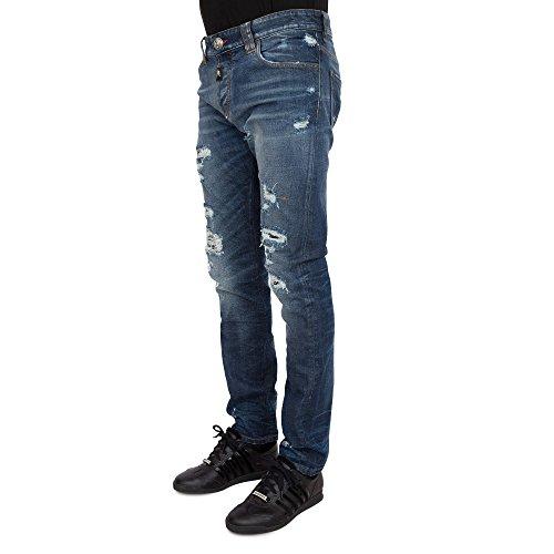 Philipp Plein 'SO FAST' Herren Jeans Destroyed Super Straight Cut