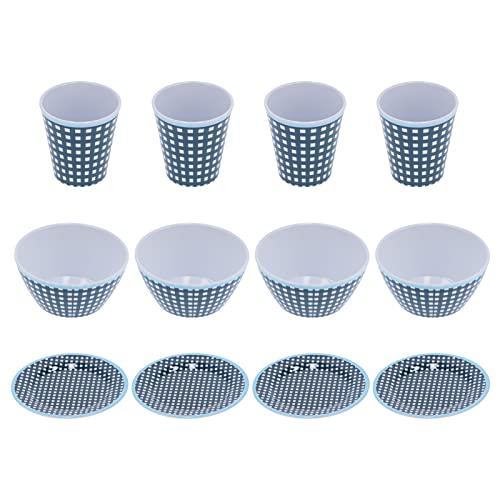 Vajilla, Vaso de melamina Anti-escaldaduras 12Pcs / Set para Familias Restaurantes y Hoteles