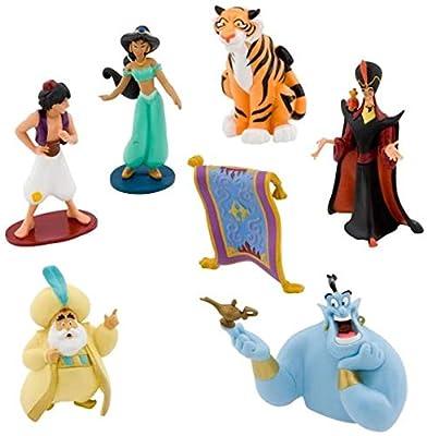 Disney Parks Exclusive - Cake Topper Figures - Aladdin and Princess Jasmine